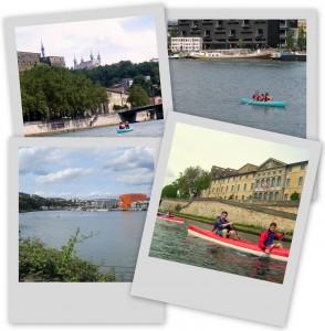 Visite de Lyon en canoë - kayak avec L'Azimut
